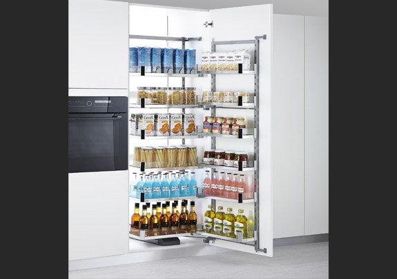 Glass Pantry Pull Out Unit